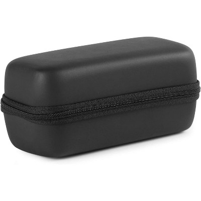 "Portable Earbud Case, Travel Pouch for Earphone Carrying Case with Zipper (Black, 6.5"" x 3"")"