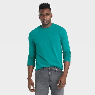 Men's Standard Fit Long Sleeve Crew Neck T-Shirt - Goodfellow & Co™