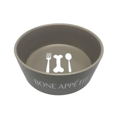 Icon Ceramic Cat and Dog Bowl - Gray - Large - Boots & Barkley™