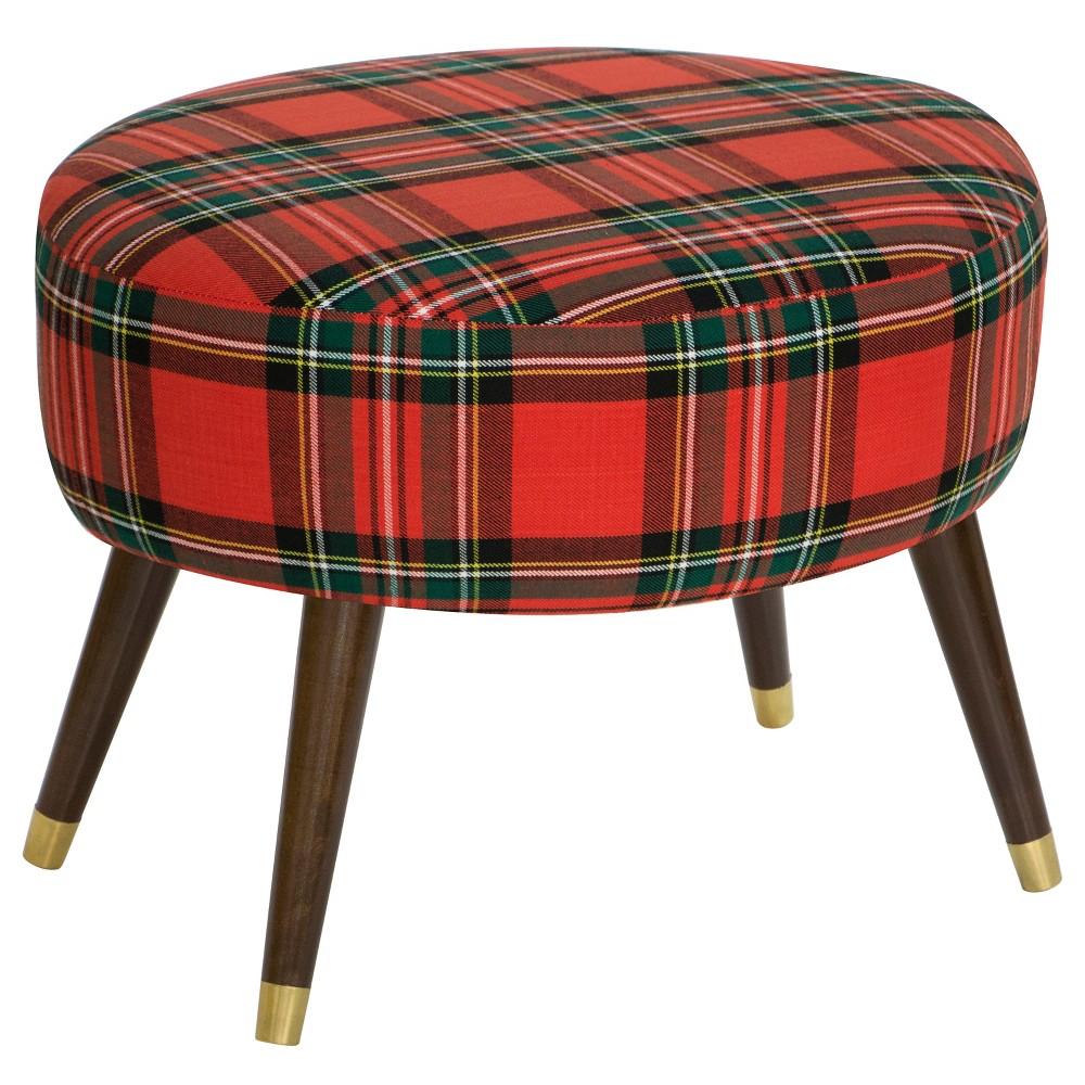 Skyline Oval Ottoman - Skyline Furniture, Red