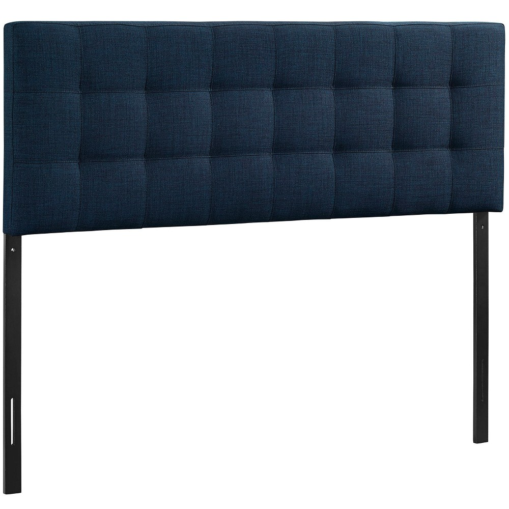 Lily King Upholstered Fabric Headboard Navy (Blue) - Modway