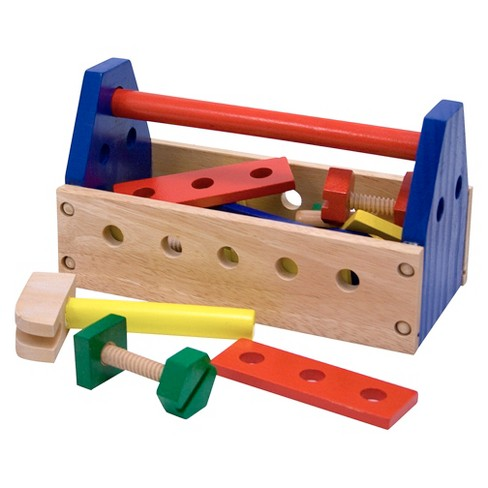 Melissa & Doug® Take-Along Tool Kit Wooden Construction Toy (24pc) - image 1 of 4