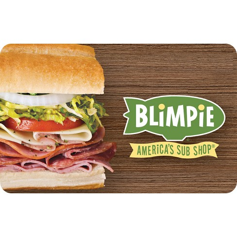 Blimpie Gift Card (Email Delivery) - image 1 of 1