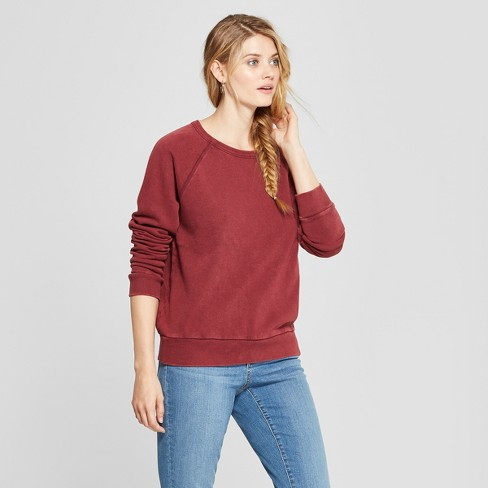 dc50db473f0 Women's Crew Neck Sweatshirt - Universal Thread™ Burgundy XL