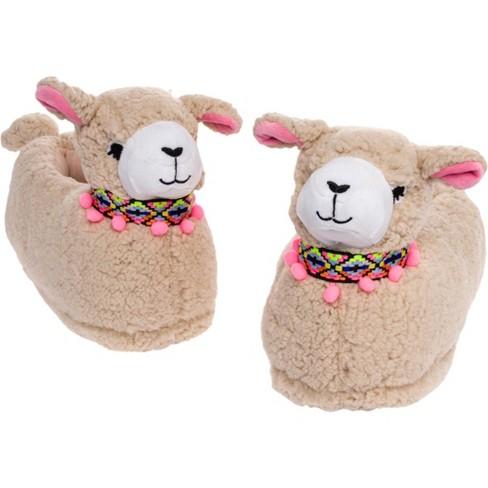 FUNZIEZ! - Women's Llama Animal Slippers - image 1 of 4