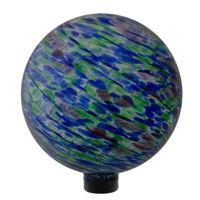 "Northlight 10"" Green and Blue Swirl Designed Outdoor Garden Gazing Ball"