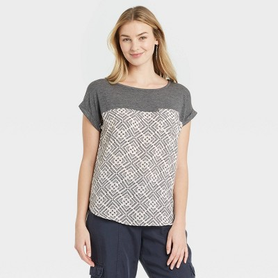 Women's Short Sleeve Woven T-Shirt - Knox Rose™