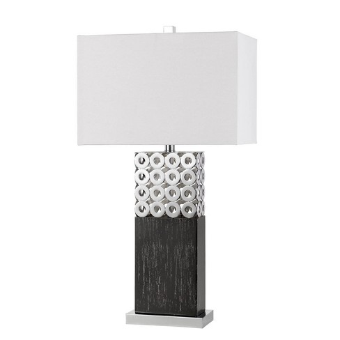 "29.5"" Metal Jesi Laser Cut Table Lamp Brushed Steel - Cal Lighting - image 1 of 2"