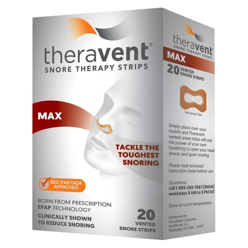 Theravent Snore Therapy Strips Max - 20ct - image 1 of 1