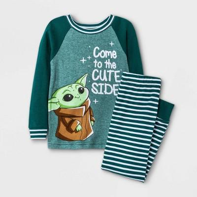 Baby Boys' 2pc Baby Yoda Star Wars Snug Fit Pajama Set - Green 18M