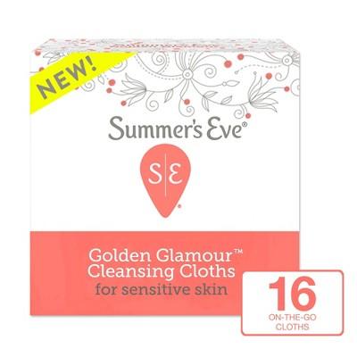 Summer's Eve Golden Glamour Feminine Wipes - 16ct