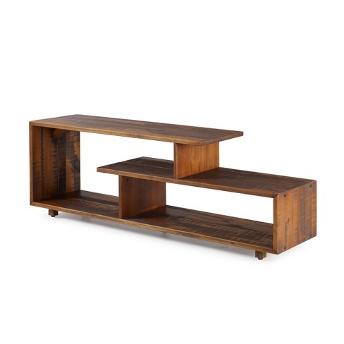 Rustic Modern Solid Wood Tv Stand For Tvs Up To 50 Saracina Home Target Shop target for tv stands and entertainment centers in a variety of sizes, shapes and materials. rustic modern solid wood tv stand for tvs up to 50 amber saracina home