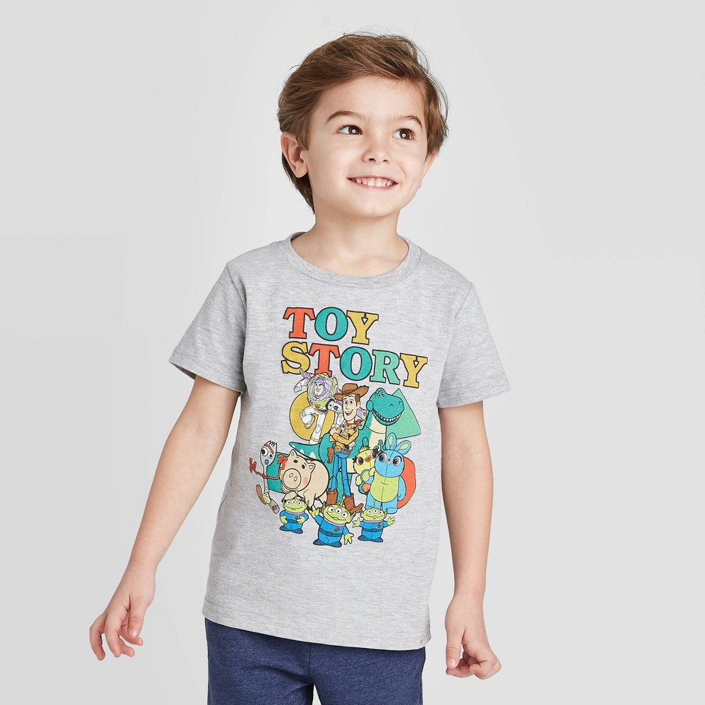 Toddler Boys 39 Toy Story Graphic T Shirt Light Gray 18m
