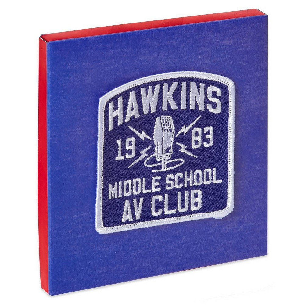 Best Stranger Things Hawkins AV Gift Card Holder Greeting Card With Patch Blue