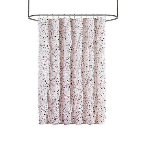 "72""x72"" Nicole Metallic Print Shower Curtain Plum/Pink - image 1 of 4"