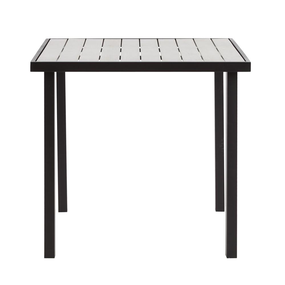 Stockton Outdoor Gathering Table Gray/Dark Bronze