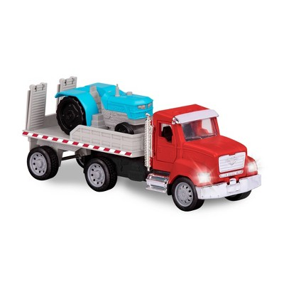 DRIVEN – Toy Flatbed Truck with Tractor – Micro Series