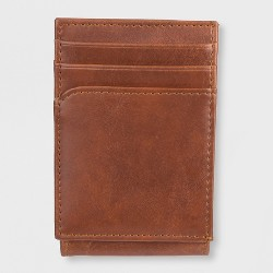 Men's Wide Mag Curved Pocket Wallet - Goodfellow & Co™ Tan One Size