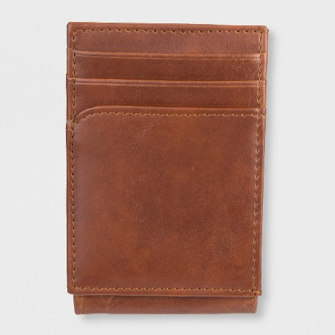 Men's Wide Mag Curved Pocket Wallet - Goodfellow & Co™ Tan One Size - image 1 of 4