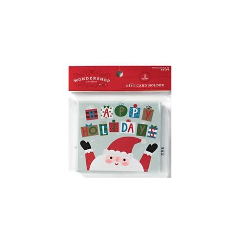 Gift Card Holder Santa Wondershop Target