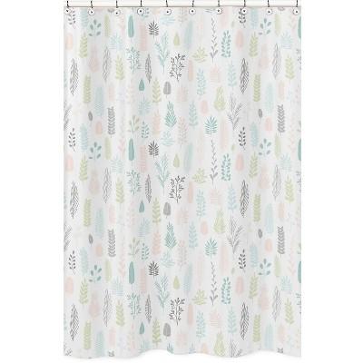 Leaf Shower Curtain Pink - Sweet Jojo Designs