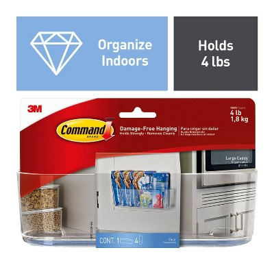 Command Large Sized Clear Caddy with Clear Strips (1 Caddy)