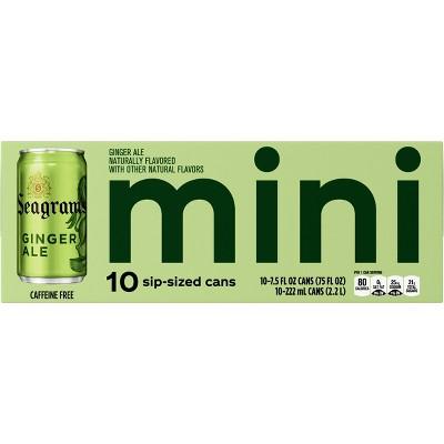 Seagrams Ginger Ale - 10pk/7.5 fl oz Mini-Cans