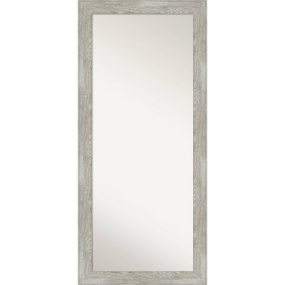 "30"" x 66"" Dove Graywash Framed Full Length Floor/Leaner Mirror - Amanti Art"