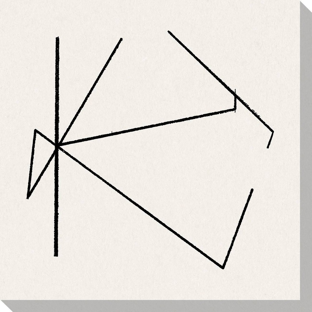 Image of Draft III Unframed Wall Canvas Art - (24X24)