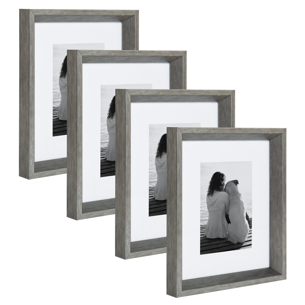 "Image of ""8""""x10"""" Calter Photo Frame Set Silver - Kate & Laurel All Things Decor"""