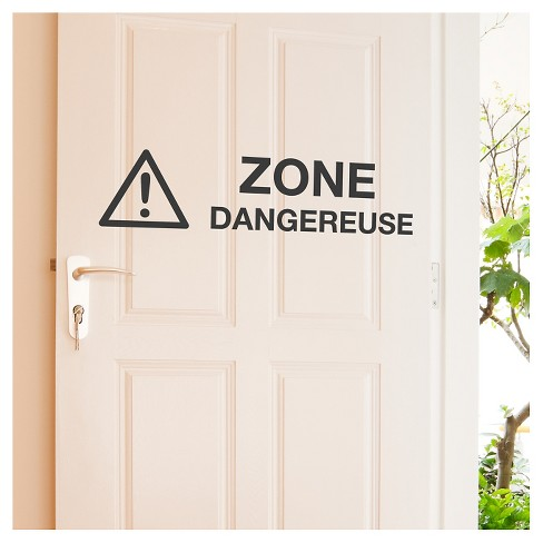 Zone Dangereuse Wall Decal - Black - image 1 of 1