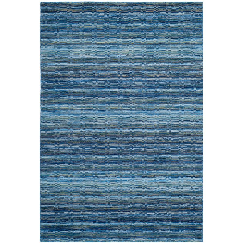2'X3' Stripe Loomed Accent Rug Blue - Safavieh