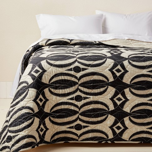 Printed Quilt Black/Tan - Opalhouse™ designed with Jungalow™ - image 1 of 4