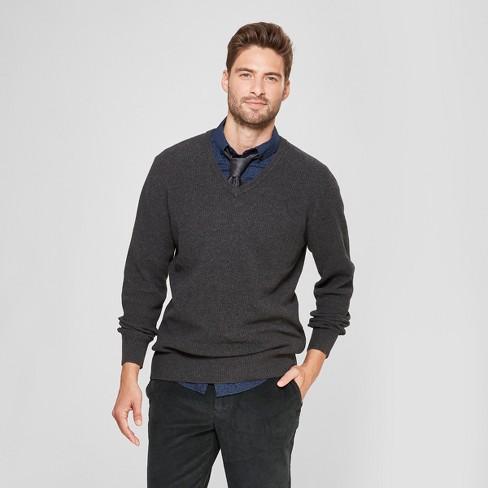 73c7df44c08 Men s Standard Fit V-Neck Sweater - Goodfellow   Co™ Medium Heather Gray