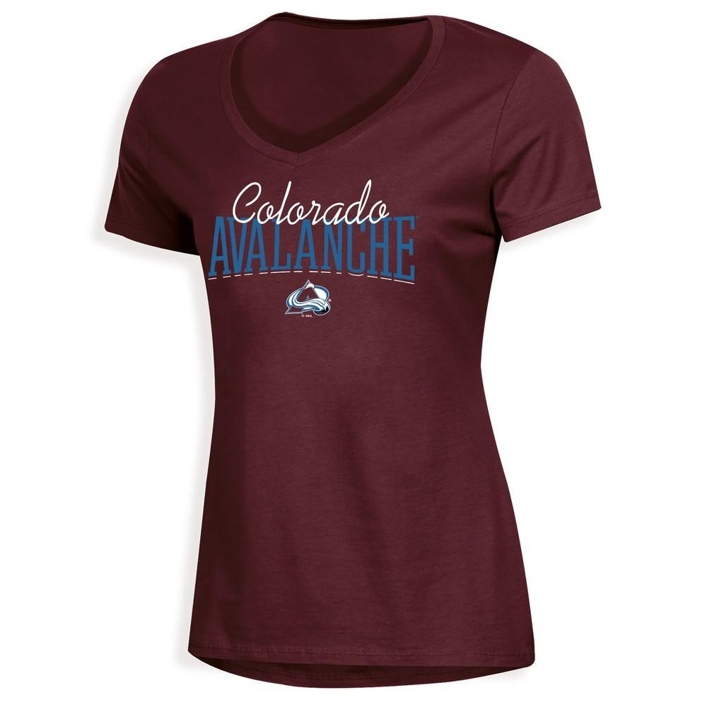 Colorado Avalanche Women's Overtime V-Neck T-Shirt - S, Multicolored