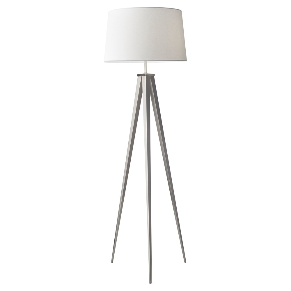 Image of Adesso Producer Floor Lamp- Silver/Ivory