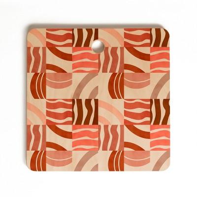 Marta Barragan Camarasa Terracotta Modern Shapes Square Cutting Board - Deny Designs