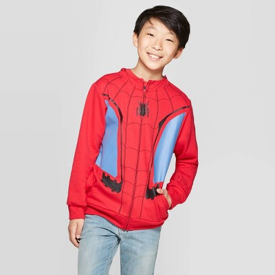 Boys' Spider-Man Costume Fleece Sweatshirt - Red