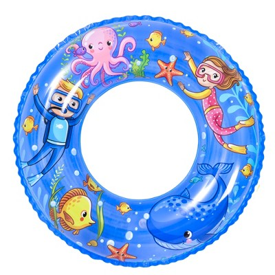 """Pool Central 24"""" Blue Inflatable Sea World Inner Tube Pool Float"""