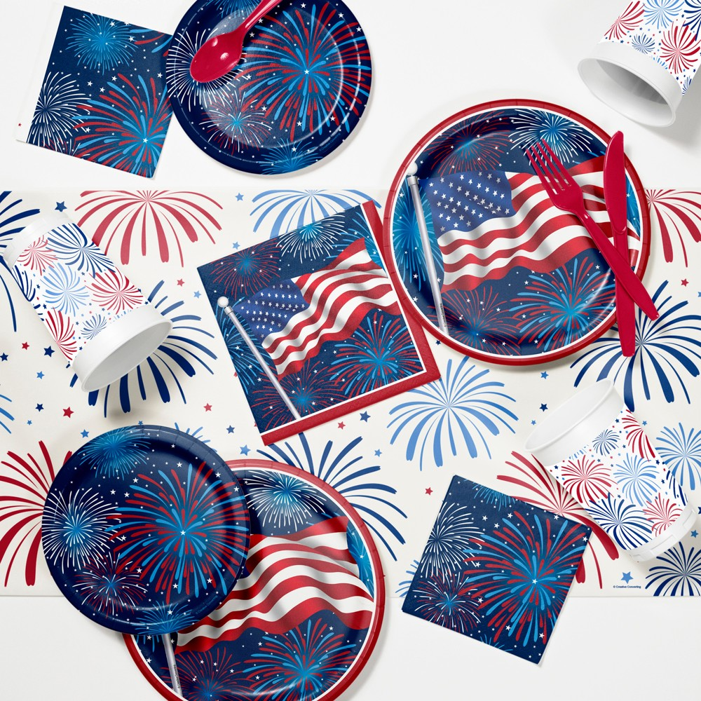 Best Price Fireworks Celebration 4th Of July Party Supplies Kit Red