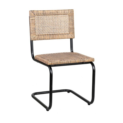 Trixie Rattan Side Chair Cream - East At Main - image 1 of 4