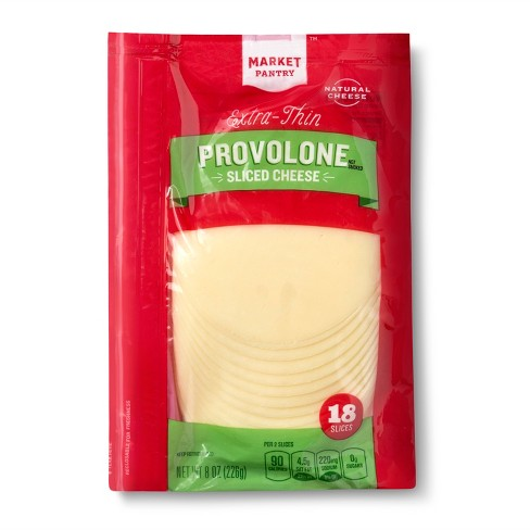 Extra-Thin Provolone Cheese Slices - 8oz/18ct - Market Pantry™ - image 1 of 1