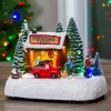 """Northlight 8"""" LED Lighted and Musical Christmas Village Tree Shop Table Top Decoration - Pre-Lit - image 2 of 4"""