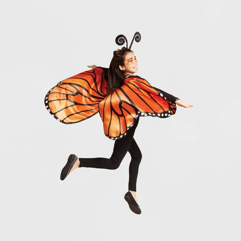 Girls' Monarch Butterfly Wings Halloween Costume Accessory - Hyde & EEK! Boutique™ - image 1 of 1