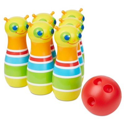 Melissa & Doug Sunny Patch Giddy Buggy Bowling Set with 6 Bug Pins, Bowling Ball and Storage Bag