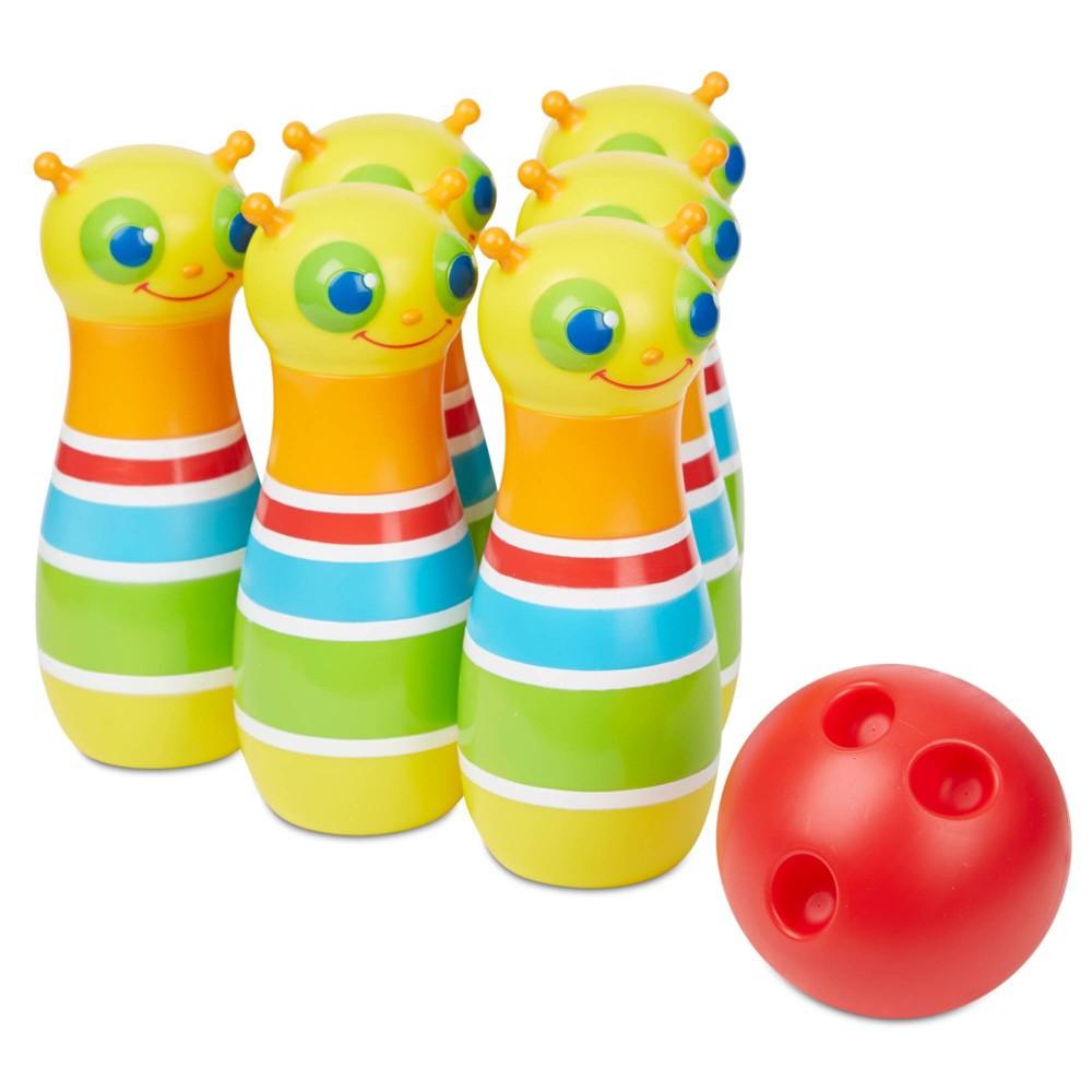 Melissa 38 Doug Rainbow Caterpillar Bowling Set