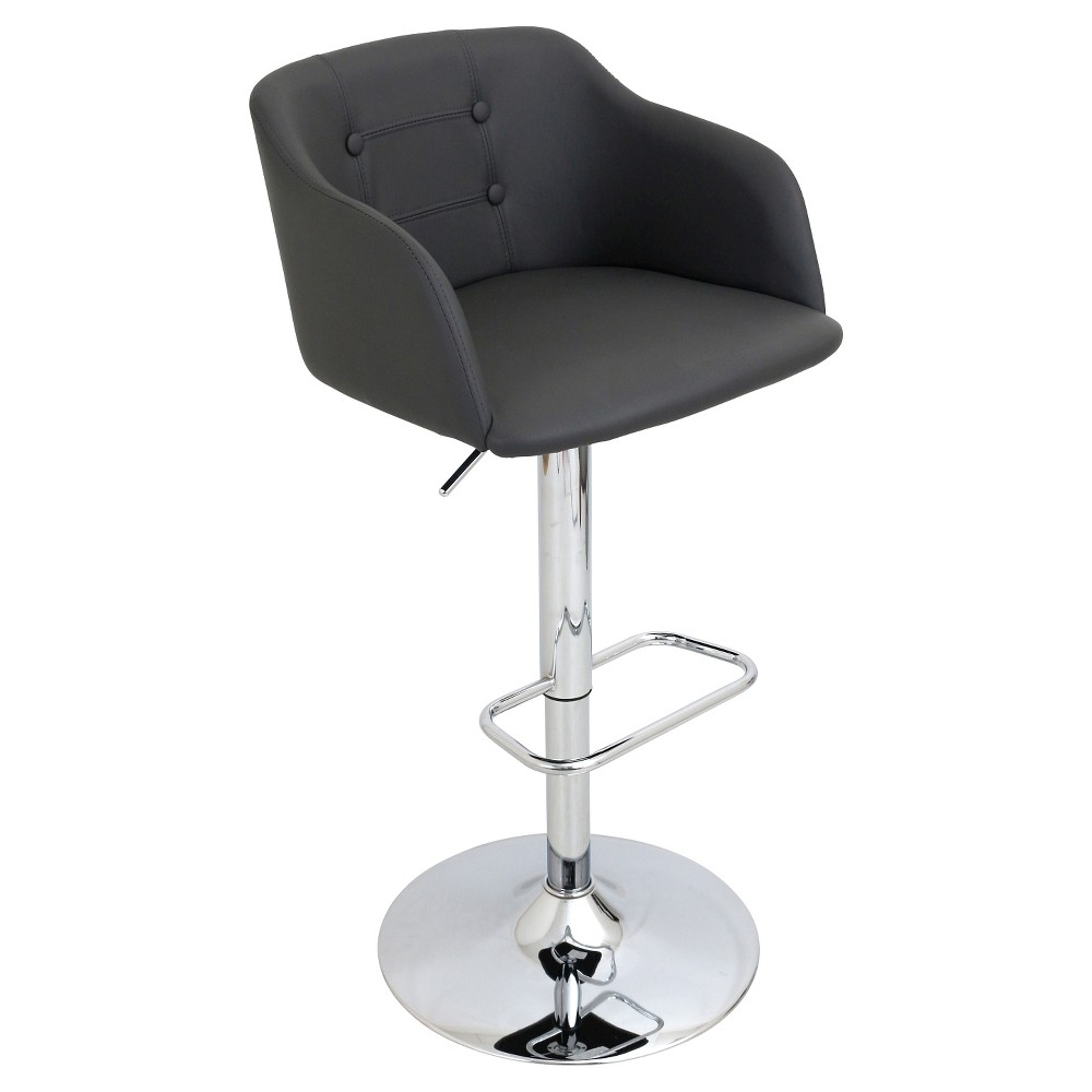 Campania Adjustable Barstool With Arms - Gray - LumiSource