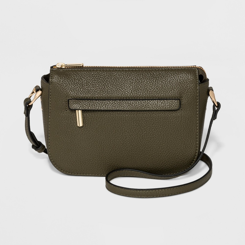 Zip Closure Crossbody Bag - A New Day Olive (Green), Women's, Size: Small