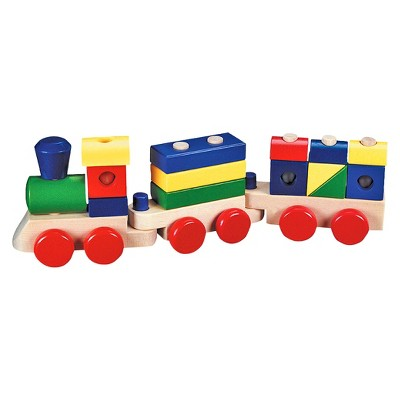 Melissa & Doug® Stacking Train - Classic Wooden Toddler Toy (18pc)