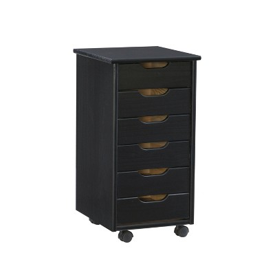 Cary 6 Drawer Rolling Storage Cart - Linon
